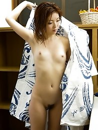 Hardcore and naughty Japanese av idol Rina Kato soaks her body wet and shows it off