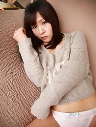 Lovely and sexy Japanese av idol Seki Manami wants to have sex on the couch