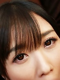 Sexy and slutty Japanese av idol Hibiki Otsuki shows a way to suck and lick