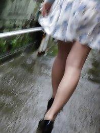 Sweet and beautiful Japanese av idol Rina Kato wants to have sex in a rainy day