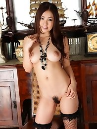 Busty and cute Japanese av idol Minori Hatsune shows off her sexy body in cat costume