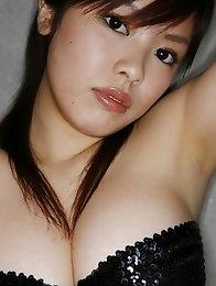 Momoko Matsuzaki shows off her beautiful curves in a black bikini