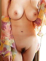 Busty japanese av idol Mai Uzuki stripped naked beside the swimming pool