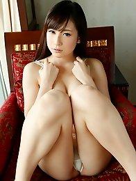 Sexy and slutty Japanese av idol Mako Kadokura shows off her tits