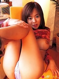 Beautiful naked gravure idol with big busty tits