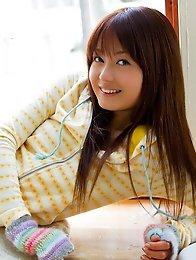Sweet nude Japanese babe Rina Ishihara with hairy pussy