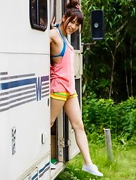 Beautiful and sexy Japanese av idol Ai Nikaido loves to play naked