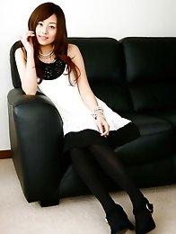 Jun Natsukawa looks adorbale in her short black and white dress