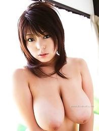 Gigantic natural boobies of a delightful Kei Megumi