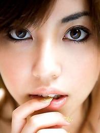 Dark-eyed goddess Miyuki Yokoyama is looking impressive