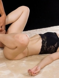 Naughty hottie Mizuki gets her meaty thighs fucked hard in a hot fetish gallery