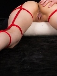 Roped beauty Ayaka Mikami moaning helplessly while teasing by a vibrating toy