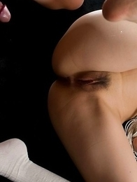 Ruru Sakurai enjoying fetish-style sex with thighjobs and foot fucking