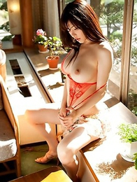 Outdoors striptease show from unforgettable Anri Okita