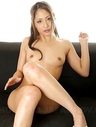 Asian gal Aoi Miyama loves posing
