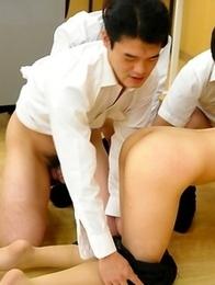 Hot Maho Sawai gets in group sex