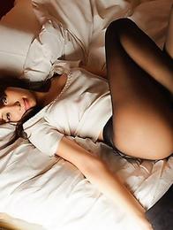 Skinny oriental beauty Alice Miyuki poses like a pro