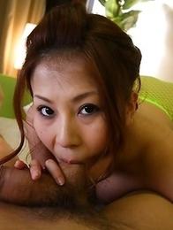 Yuki Aida sucks and swallows jizz