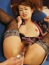 Ami Matsuda pleasured by a vibrator