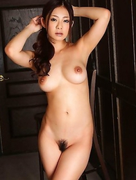 Lady from Japan Minori Hatsune poses in the hot white stockings