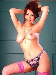 Hot Yuki Aida shows her big boobs