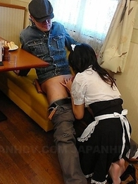 Maid Mai Mizusawa pleases her boss