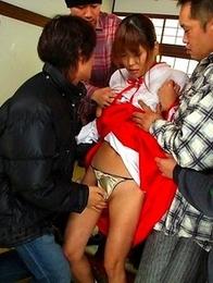 Lusty Yuuno Hoshi gets in group sex
