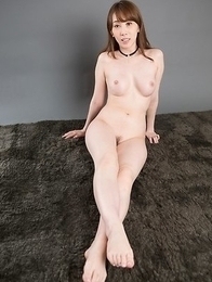 Pale seductress with a soft belly, Aya Kisaki, using her perfect toes to get him off