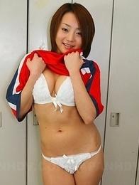 Yu Shirogan shows her body for cam