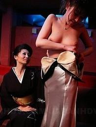 Sayuri Mikami in a FFM threesome