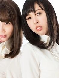 Aya Kisaki and Natsuki Yokoyama use their sexy feet to bring him to an orgasm