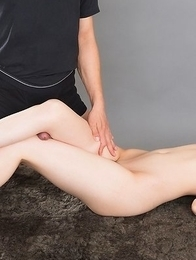 Karen Kosaka using her perfect feet to make this guy horny and ready to fuck
