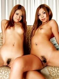 Tsubasa posing with her girl Kanon