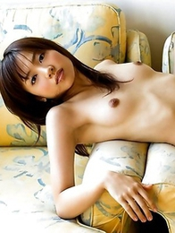 Slender actress Haruka Itoh is posing nude for a first time