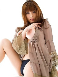 Kanon Ohzora is so gentle touching her awesome breasts