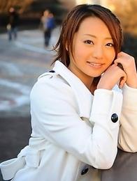 You Shiraishi poses outdoor in coat