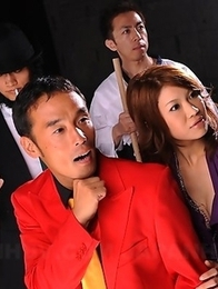 Runa Sesaki poses in her hot dress
