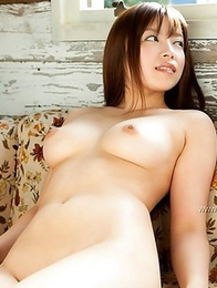 Ray Aoi is getting naked and flashing her filthy breasts