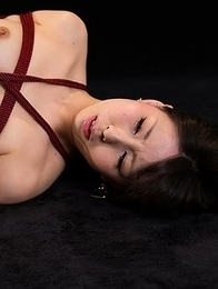 Miku Oguri shoves a green toy deep inside of her leaking pussy, it's awesome