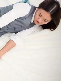 Skirt-wearing stunner Madoka Yukishiro gets teased by a guy with a vibrator