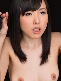 Natsuki Yokoyama Jerks Off Cock with Cum