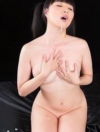 Miku Himeno Sucks Dick with Cum in Her Mouth