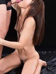 Shino Aoi Blowjob with Her Cum Filled Mouth