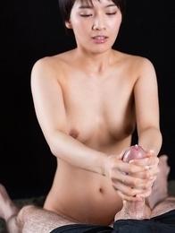 Ai Mukai Massages Dick with Cum