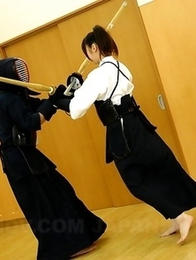 Kendo lady Jun Sena in a foursome