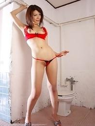 Remi Kawamura poses in sexy lingerie