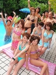 Super nasty Japanese summer girls