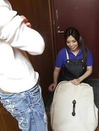 Hot Yuko Iijima rides cock with hairy cunt