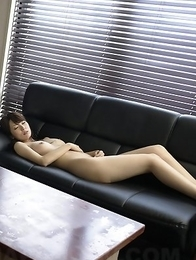 Busty Yui Hatano sucks big cock and balls