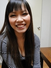 Hot Asuka has hairy pussy fucked with fingers